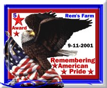 Rem's American Pride 5 Star Award Approved Site